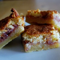 Raspberry Jam and Coconut Slice - 1